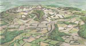 Reconstruction of the area of Mount Beuvray (1st century B.C.E)